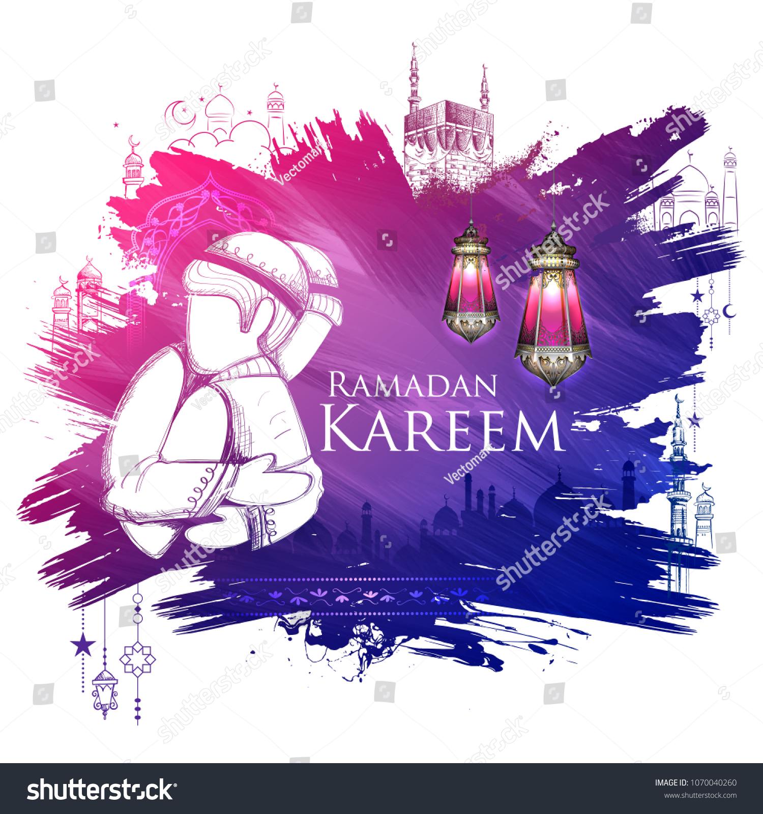 Illustration ramadan kareem generous ramadan greetings stock vector illustration of ramadan kareem generous ramadan greetings for islam religious festival eid with freehand m4hsunfo