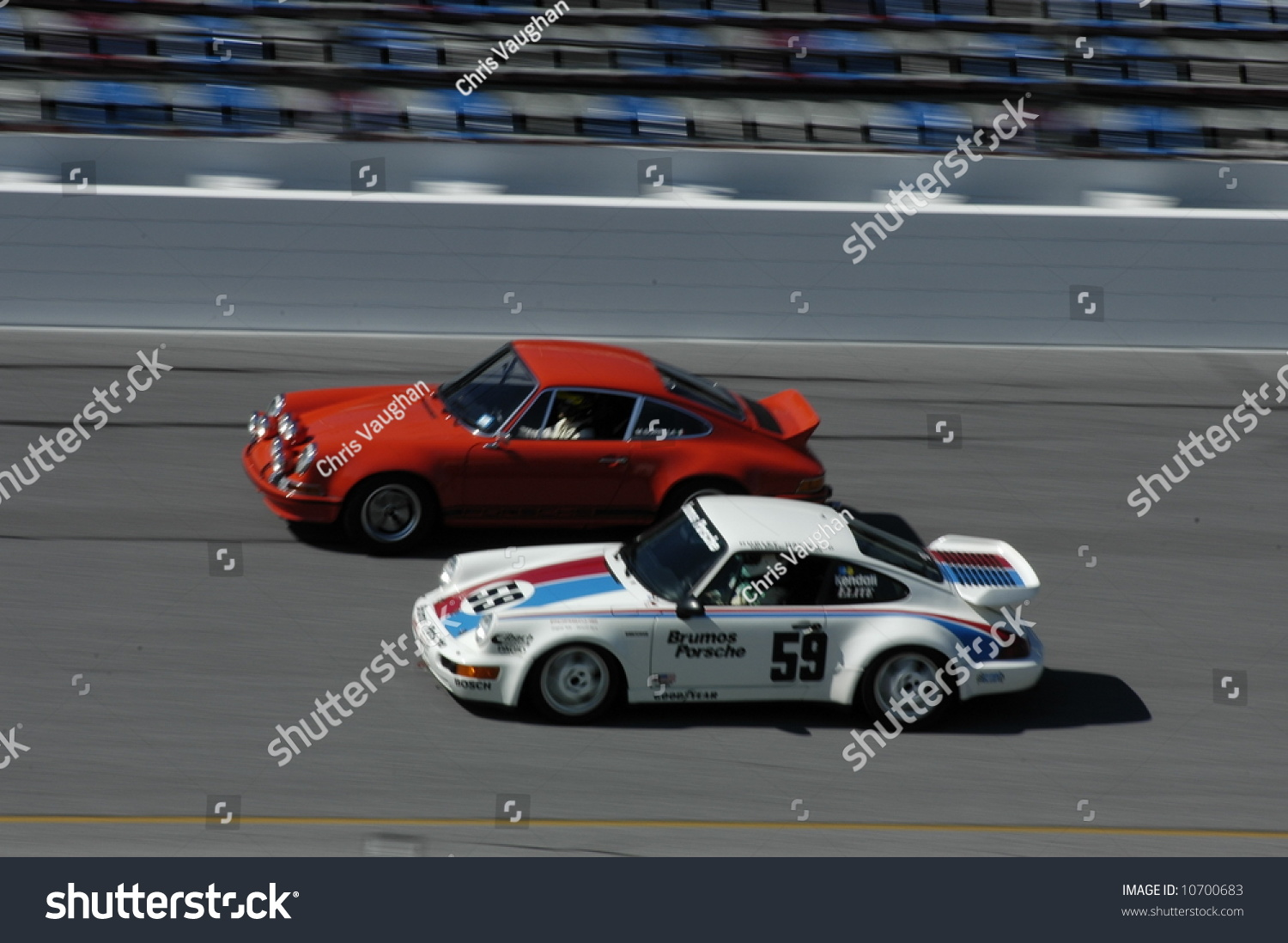 Old Newer Porsche 911s Racing On Stock Photo Edit Now 10700683