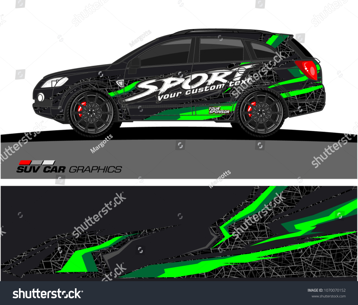 Vehicle graphics for suv wrap design and sticker branding