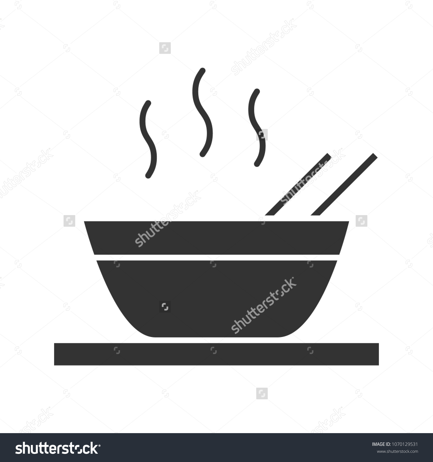 Hot Chinese Dish Glyph Icon Soup Stock Vector Royalty Free