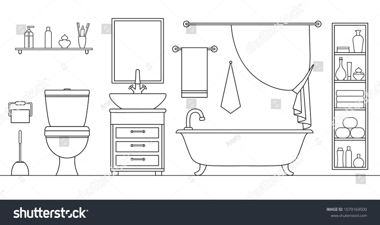 Dessin Salle De Bain image vectorielle de stock de salle de bain vectorielle