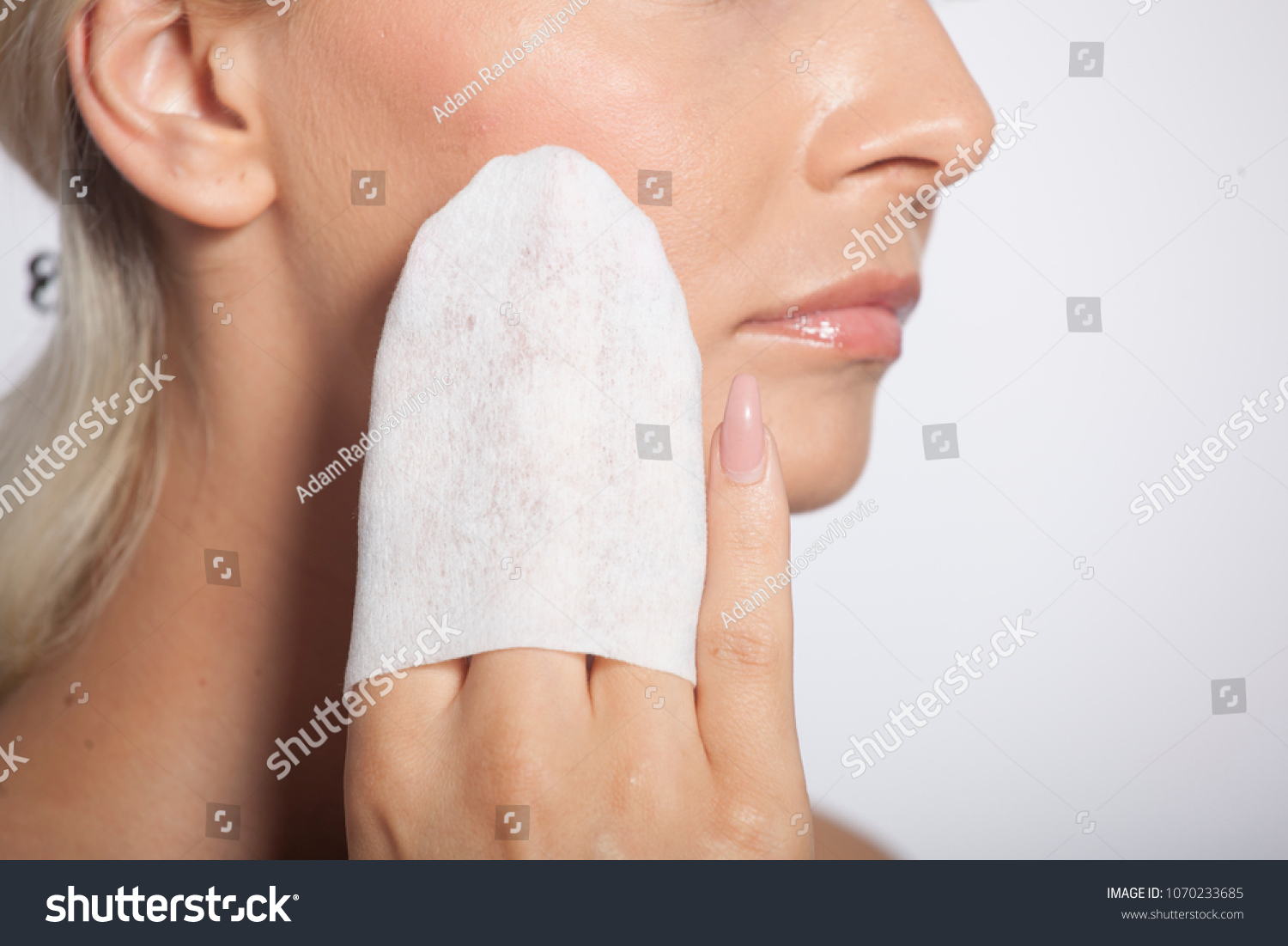 Young Woman Clean Face Eyes Wet Stock Photo (Edit Now) 1070233685 ... 5fcef1372