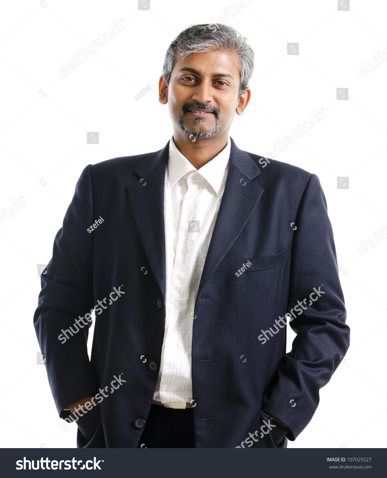 good looking mature asian indian male stock photo (royalty free