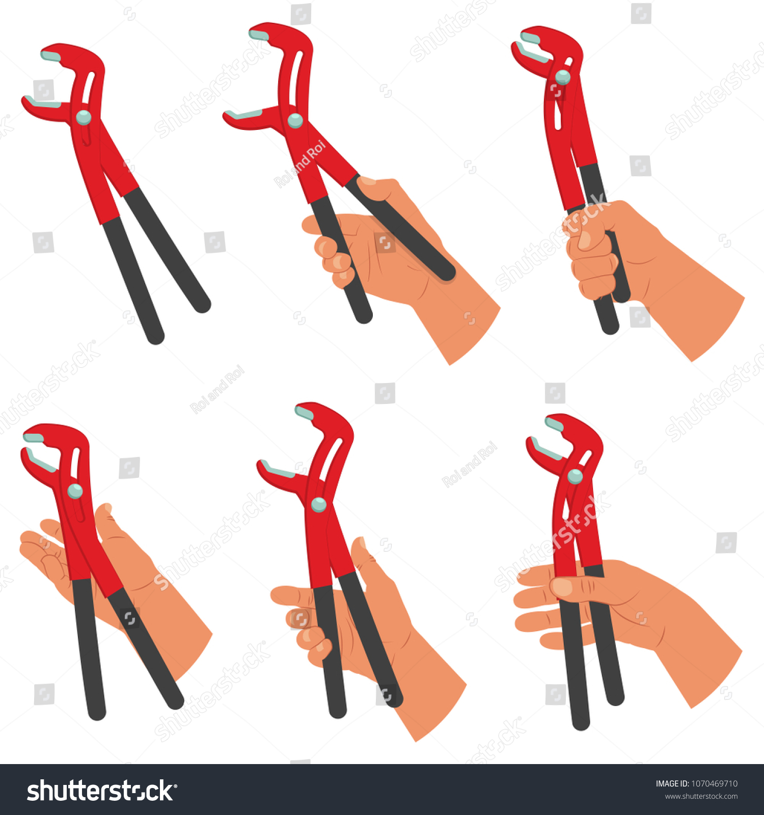 Pipe Spanner Wrench Hand Vector Cartoon Stock Vector (2018 ...