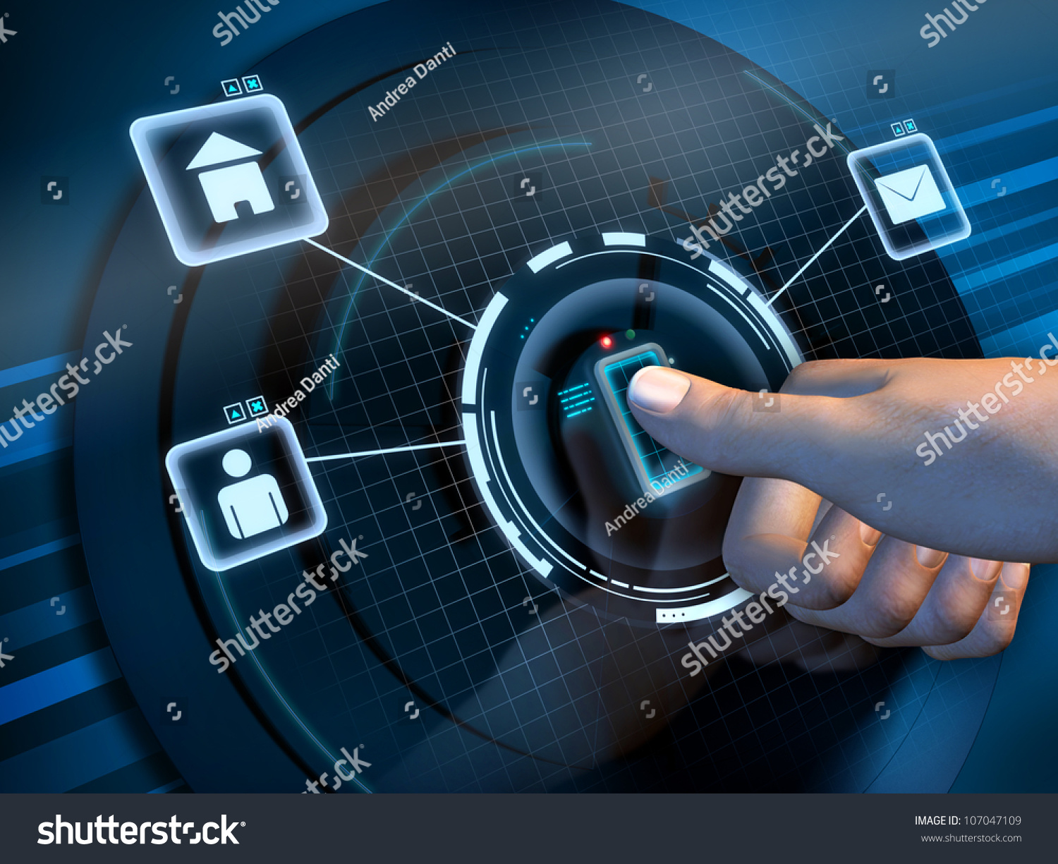 Fingerprint Recognition Used Access Software Interface