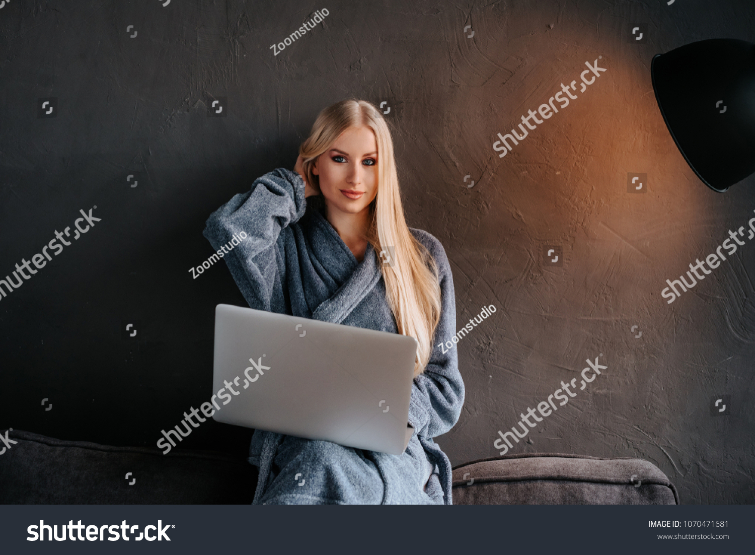 Spa Girl After Shower Work On Stock Photo (Edit Now) 1070471681 ...