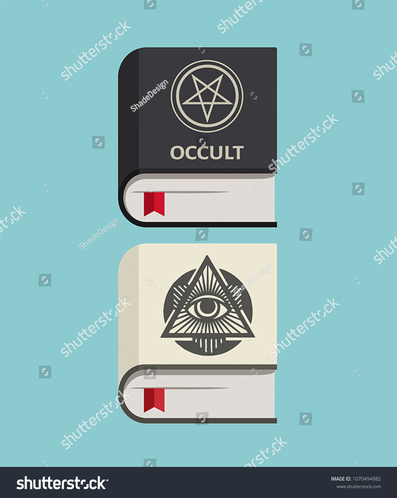 Icon Books About Occult Magic Symbols Stock Vector Royalty Free