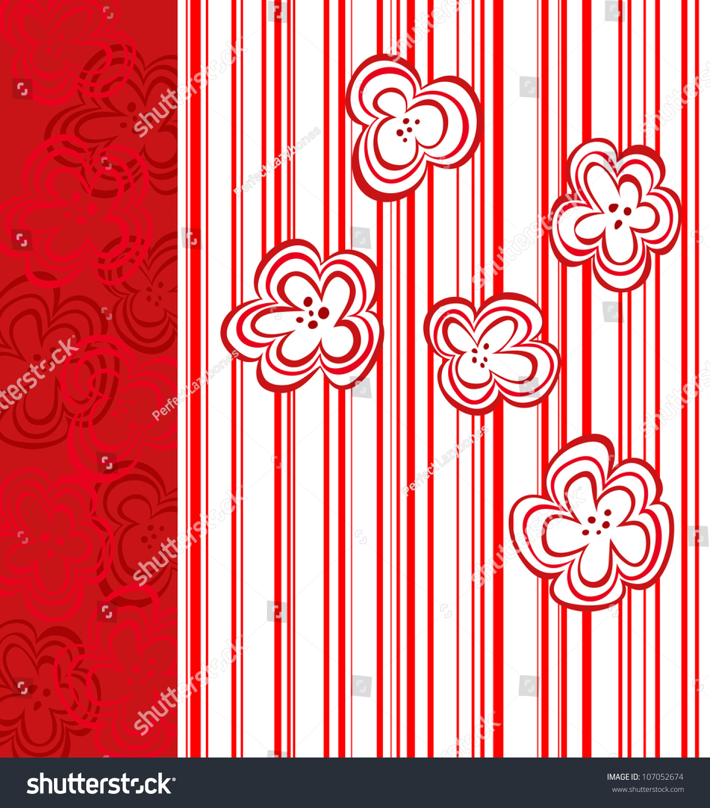 Red Book Cover Pattern : Abstract flower design for book cover gift card or