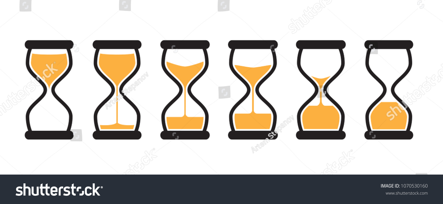 simple vector hourglass collection sand clocks stock vector royalty