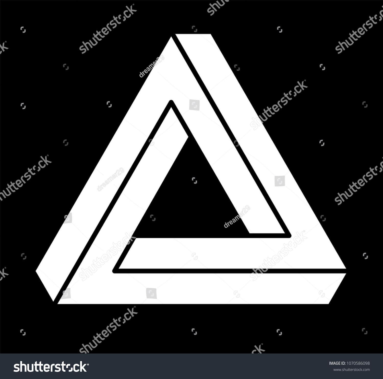 Penrose Triangle Optical Illusion Optics - Impossible Triangle Optical  Illusion Clipart (#830629) - PinClipart