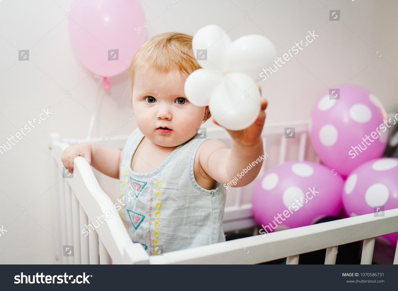 portrait little cute baby girl princess stock photo (royalty free