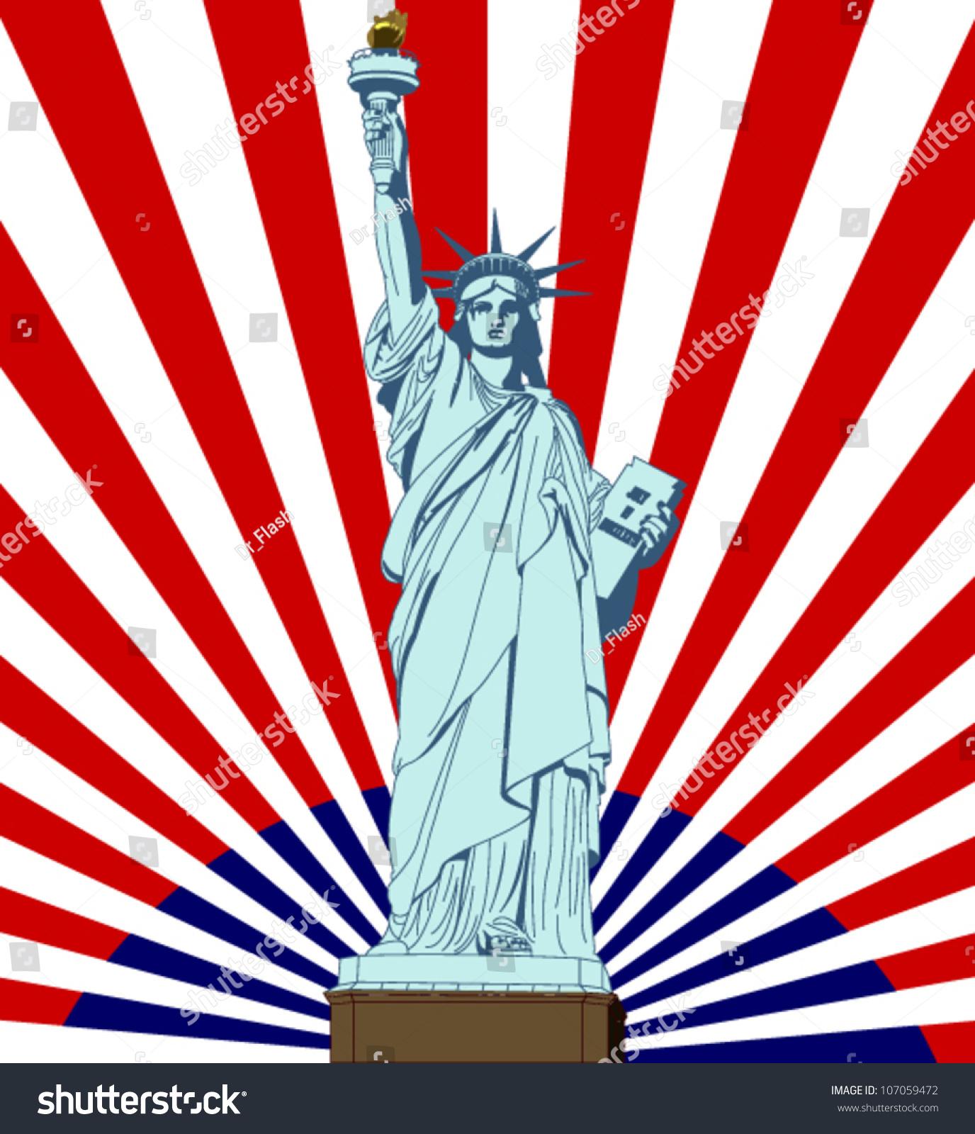 Statue liberty new york landmark symbol stock vector 107059472 new york landmark and symbol of freedom and democracy biocorpaavc Images