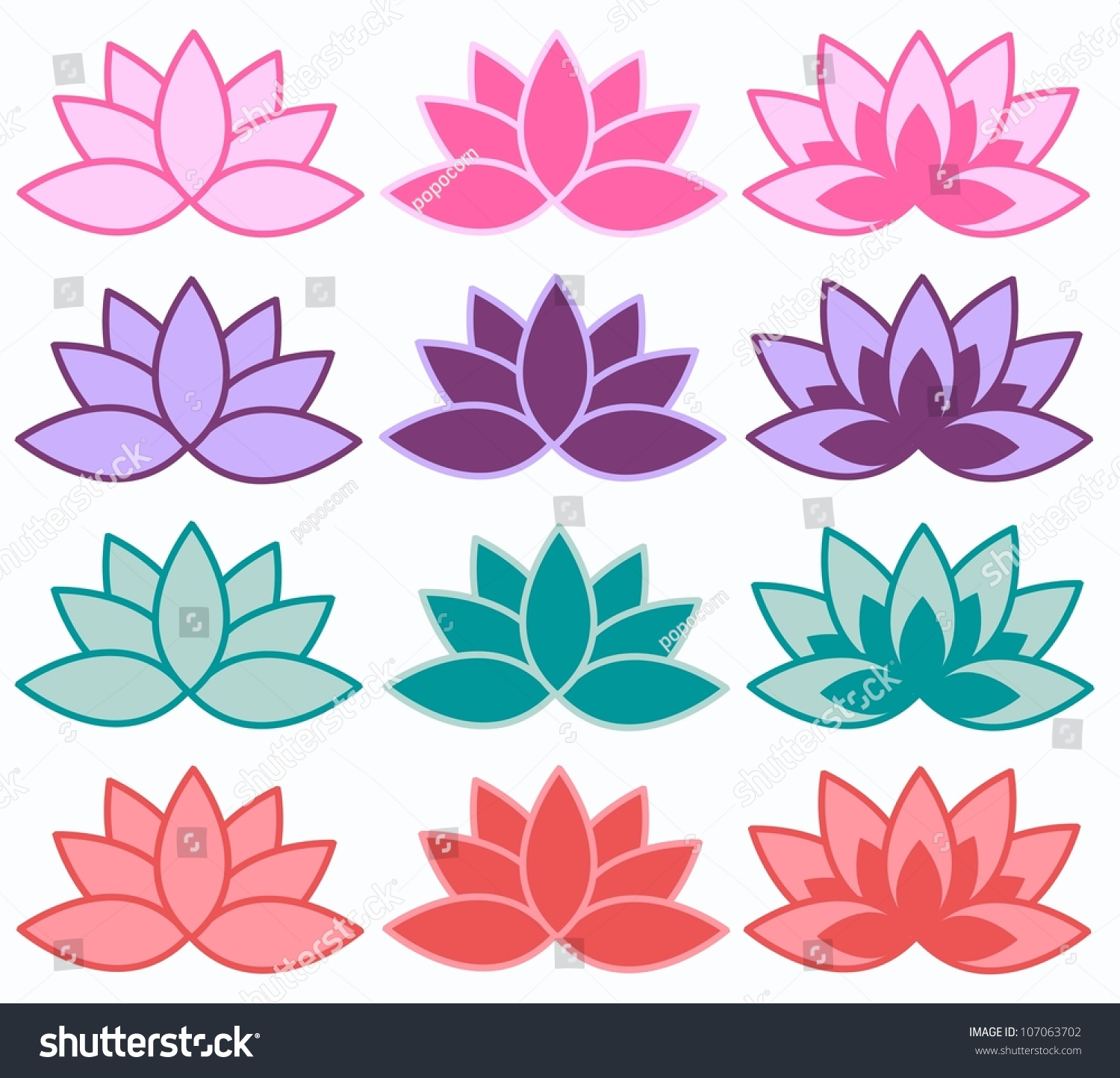 Lotus flower spa stock vector royalty free 107063702 shutterstock lotus flower spa izmirmasajfo