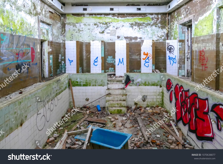 Interior Abandoned Baldone Sanatorium Building Founded Stock Photo Edit Now 1070638877
