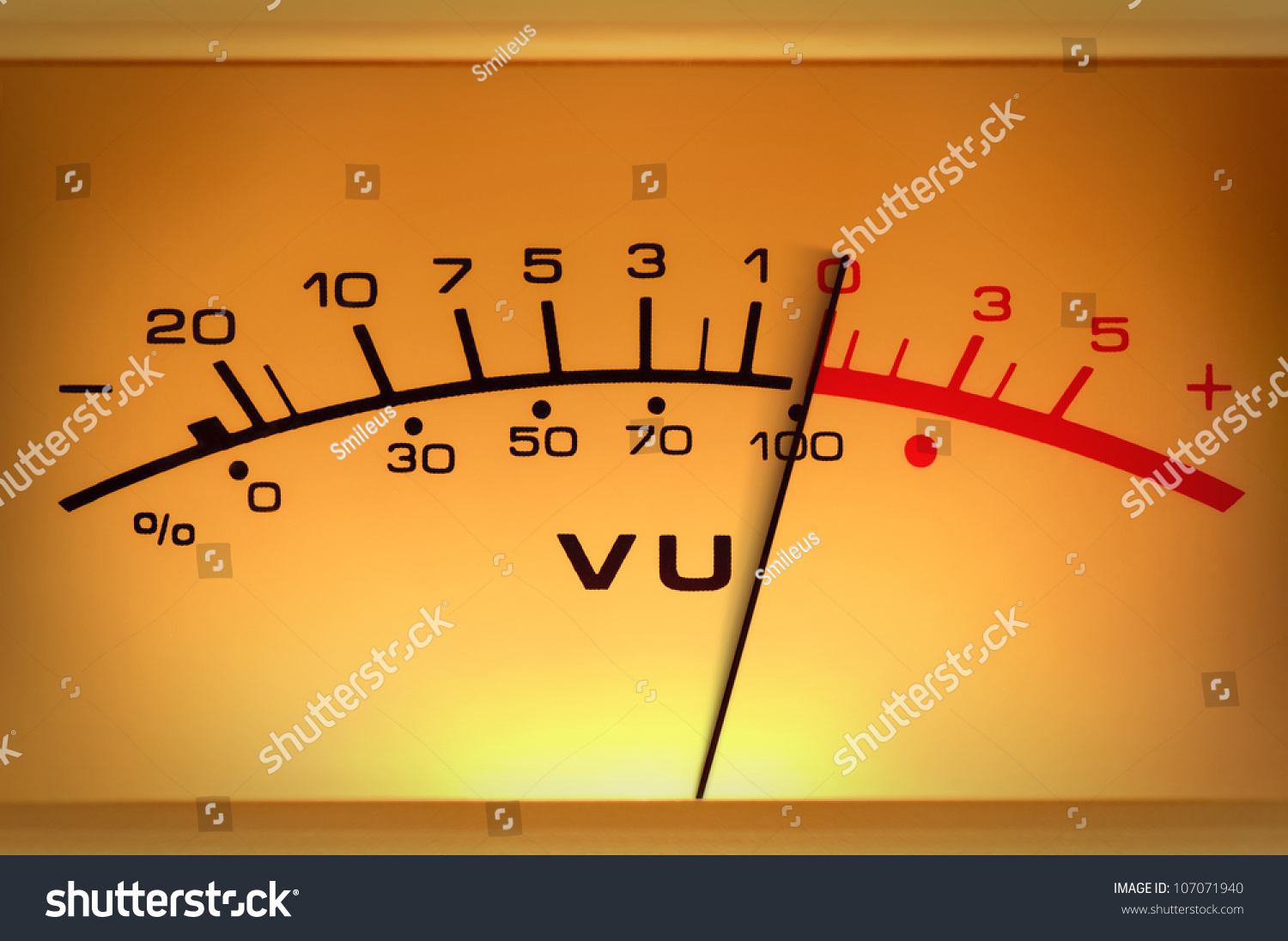 Analog Meter Needle : Analog measuring device with the needle in motion studio