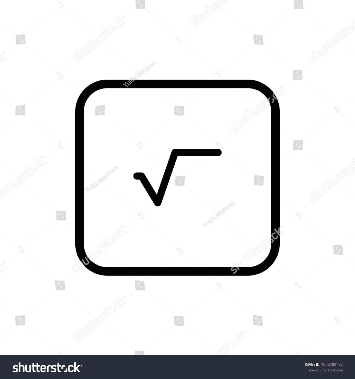 Square Root Symbol Math Formula Vector Stock Vector Royalty Free