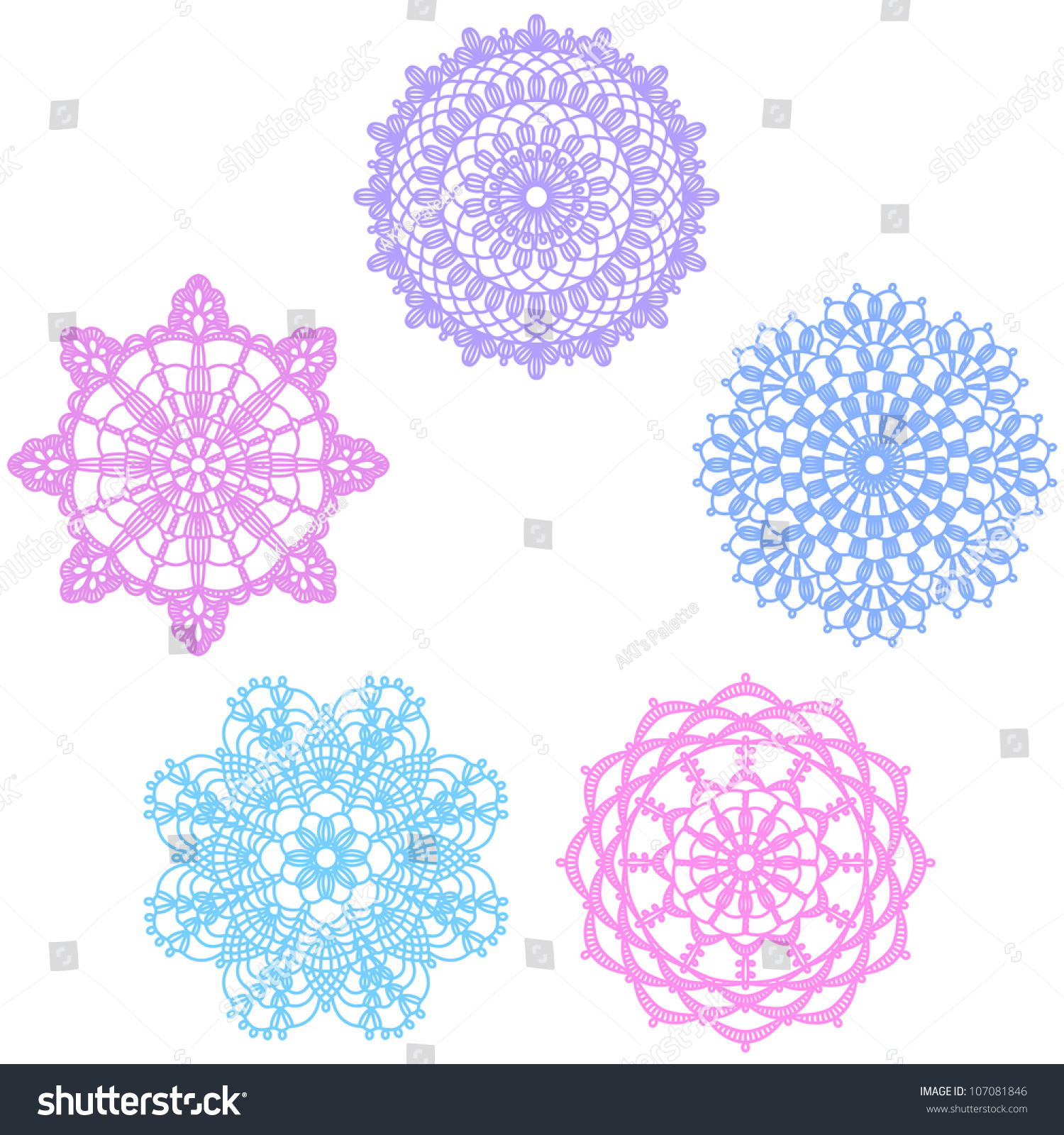 Crocheting Vector : Crochet Lace Pattern Stock Vector Illustration 107081846 ...