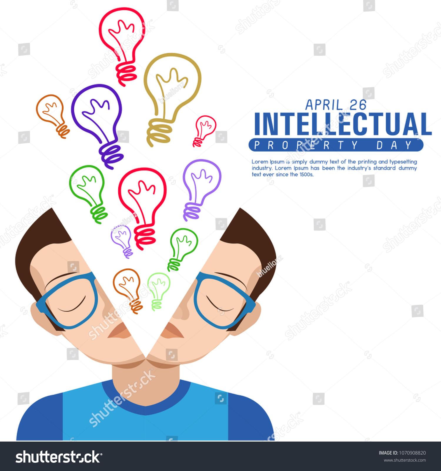 World Intellectual Property Day Vector Illustration Stock Vector