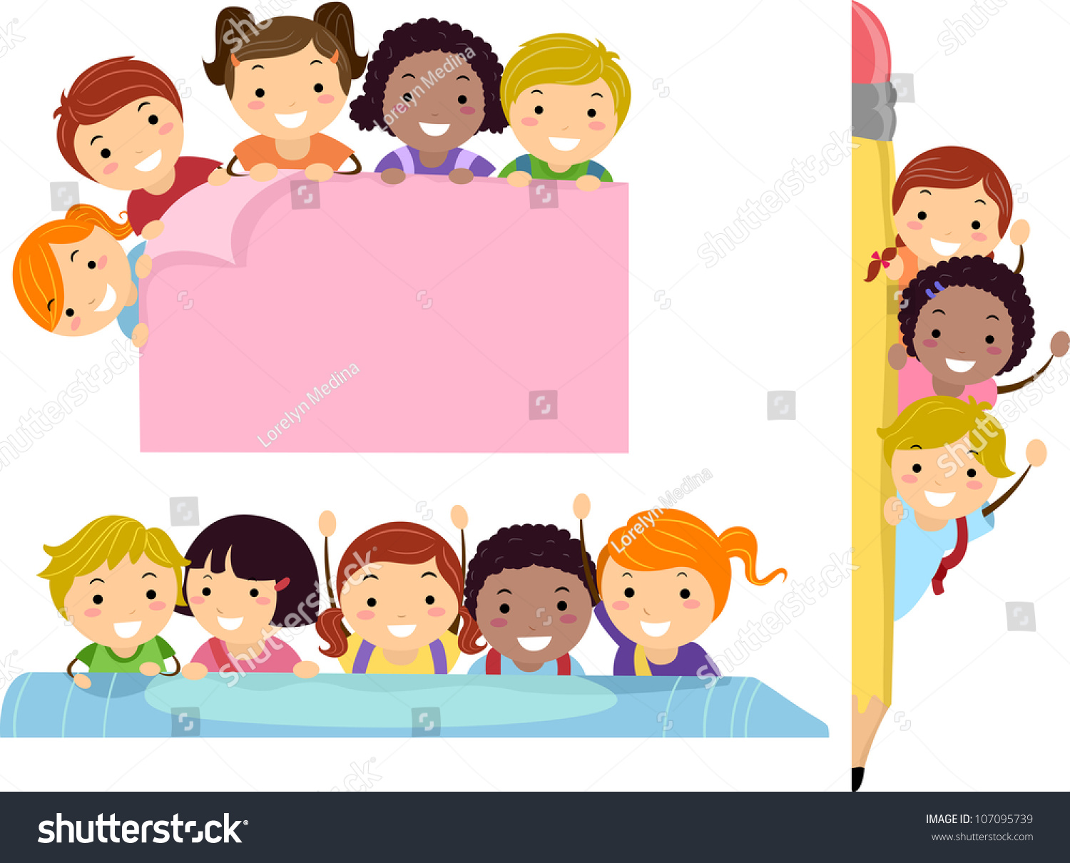 illustration featuring school children beaming happily free clipart for higher education free clipart for education