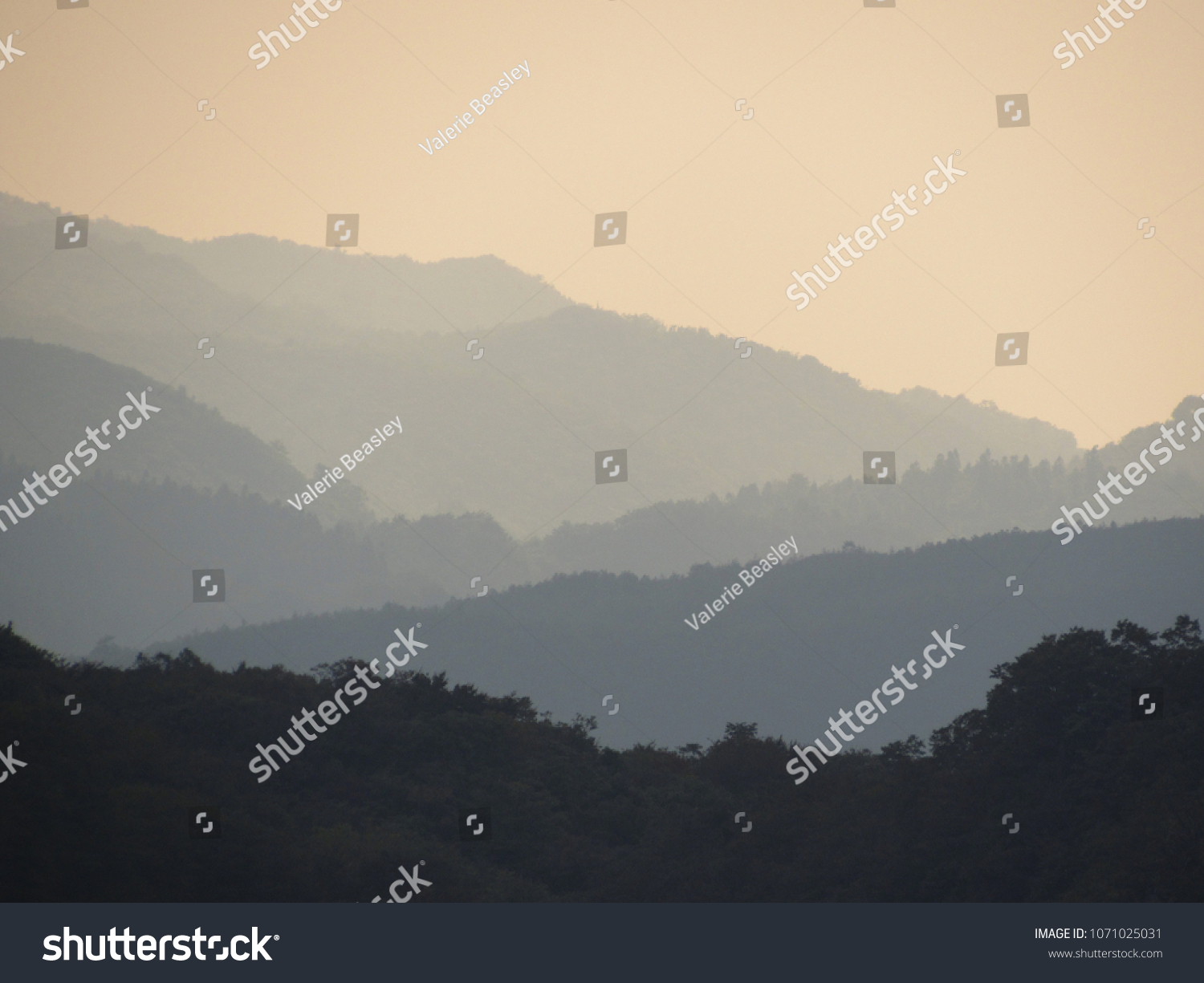 49d4d11f12f2 Ombre Mountains Hunan China Stock Photo (Edit Now) 1071025031 ...