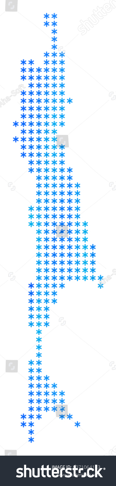 Snowflake Sakhalin Island Map Vector Geographic Stock Vector ...