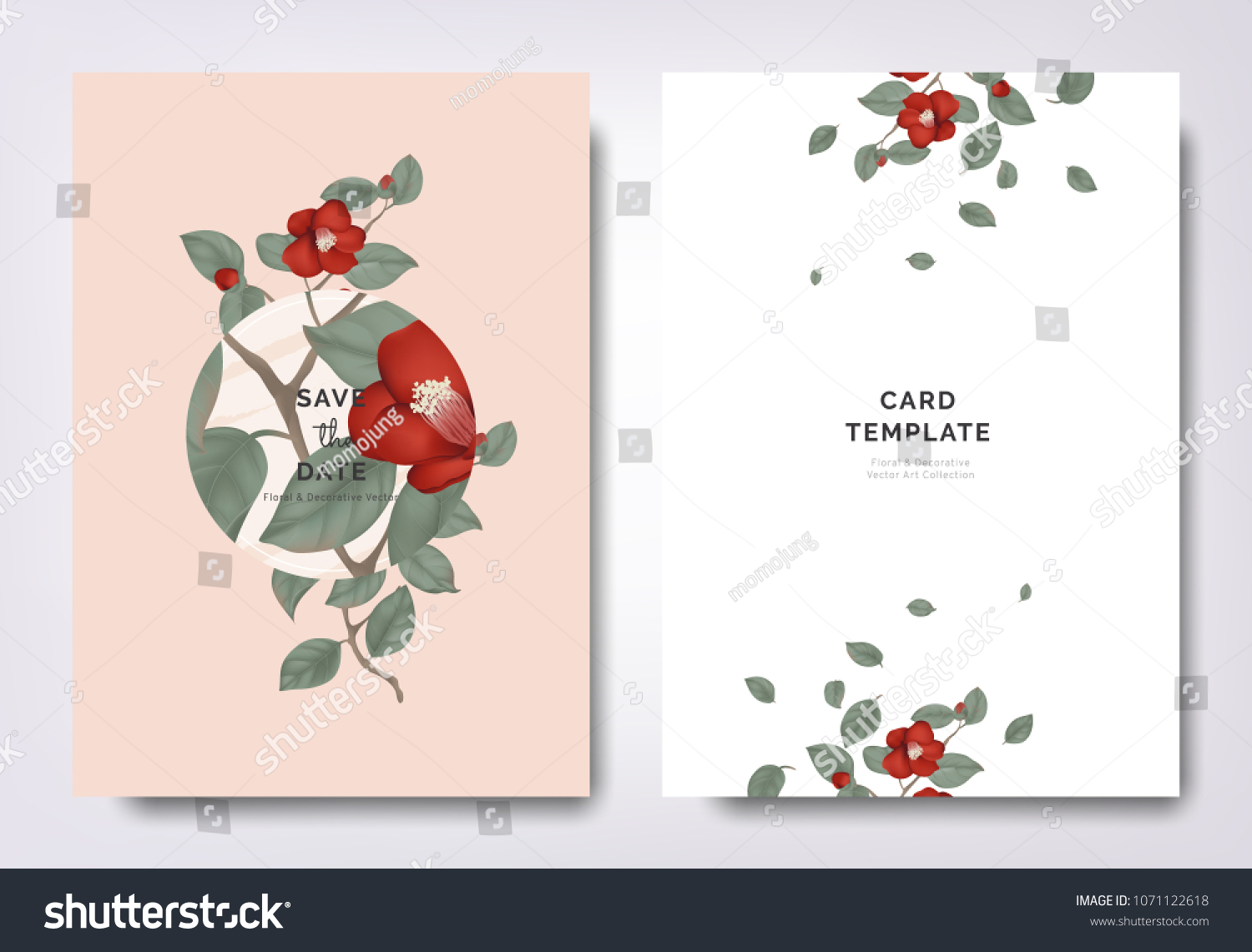 Botanical Wedding Invitation Card Template Design Stock Vector HD ...