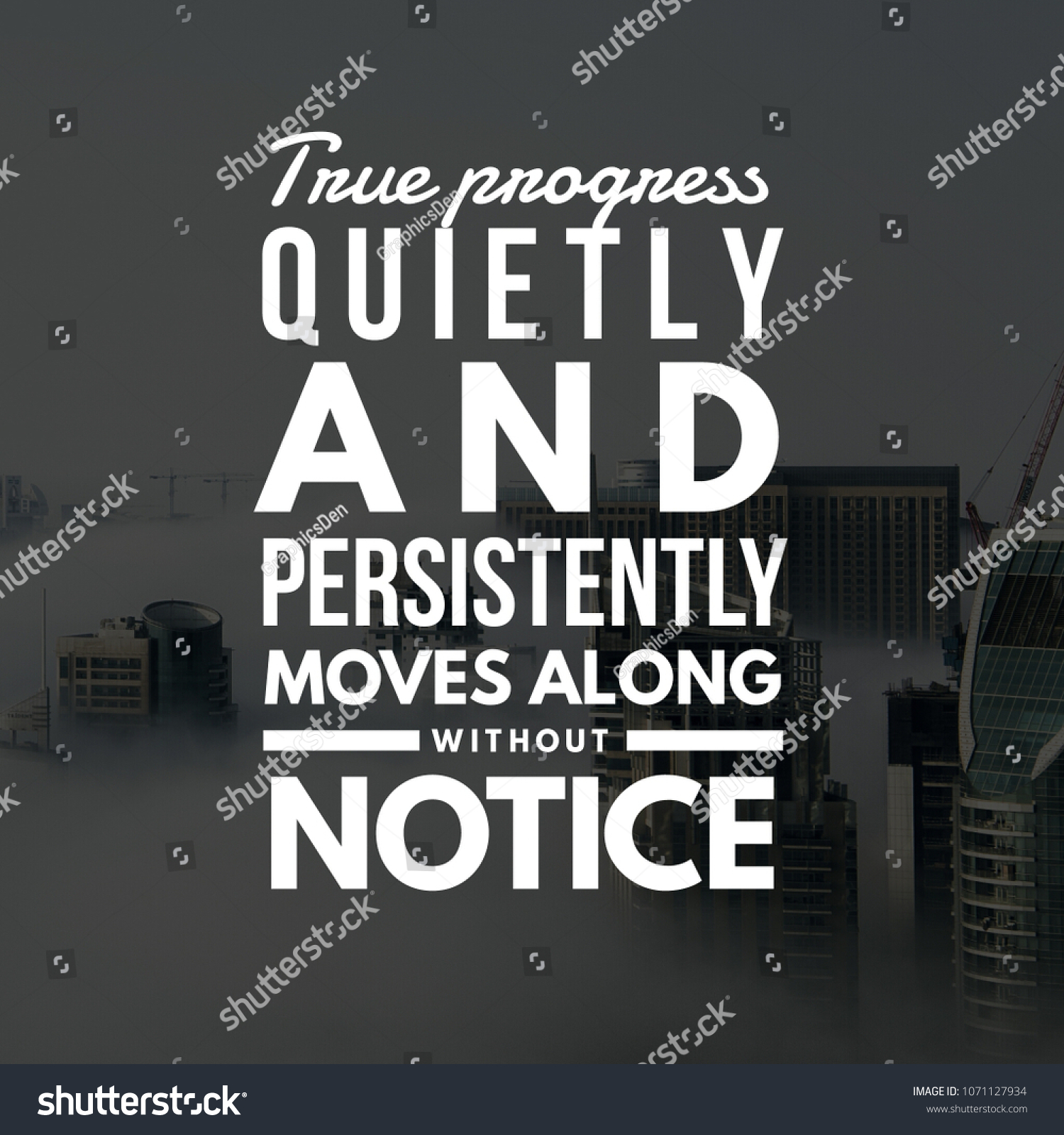 Work Success Quotes Stock Photo Edit Now 1071127934 Shutterstock