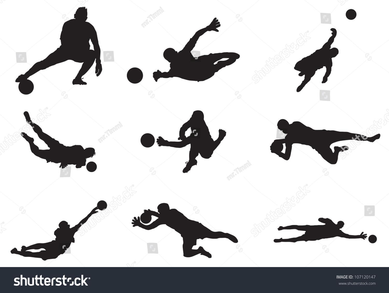Soccer goalie sketch