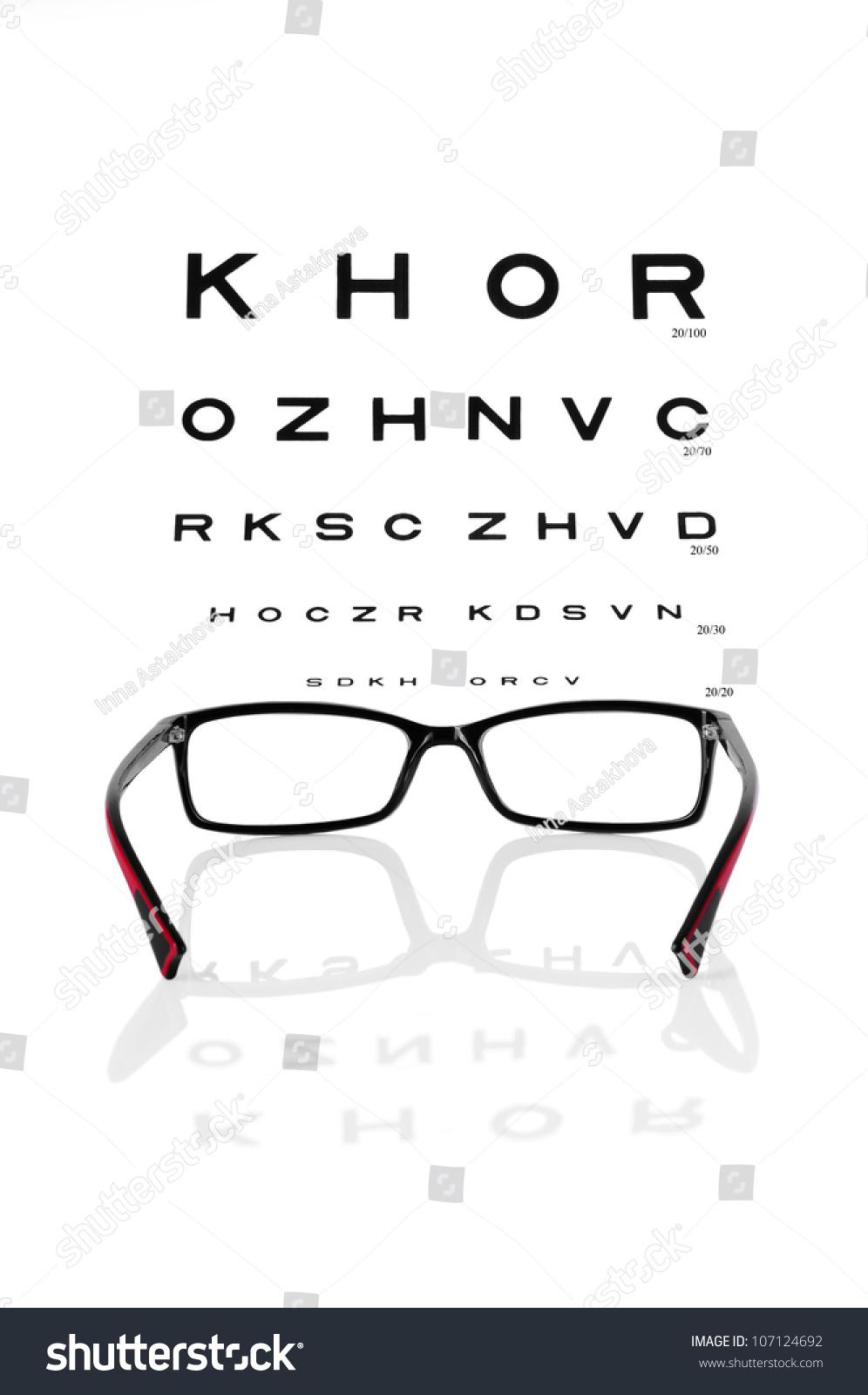Reading eyeglasses eye chart stock photo 107124692 shutterstock reading eyeglasses and eye chart nvjuhfo Image collections