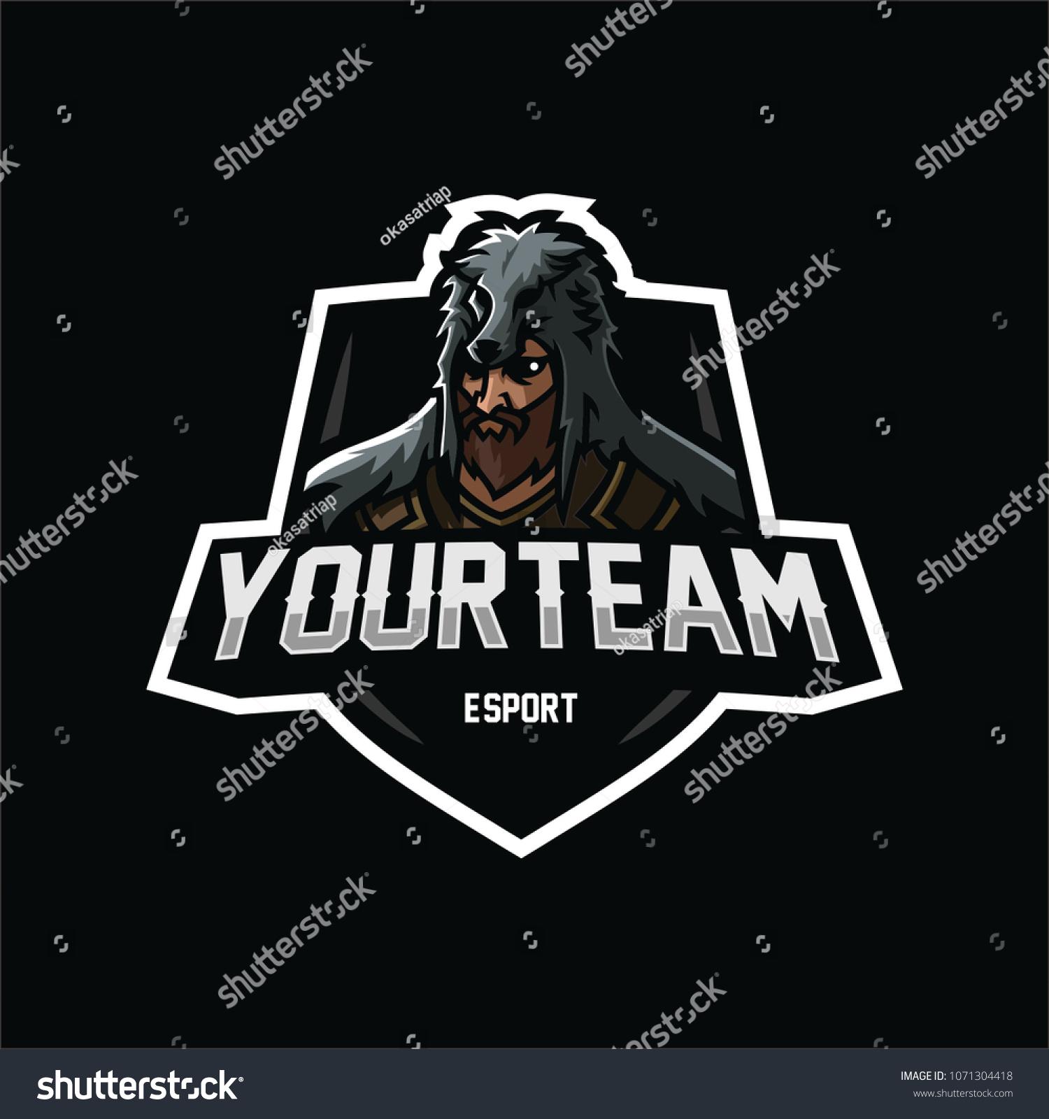 Wolf Germanic Teutonic Warrior Esport Gaming Stock Vector Royalty