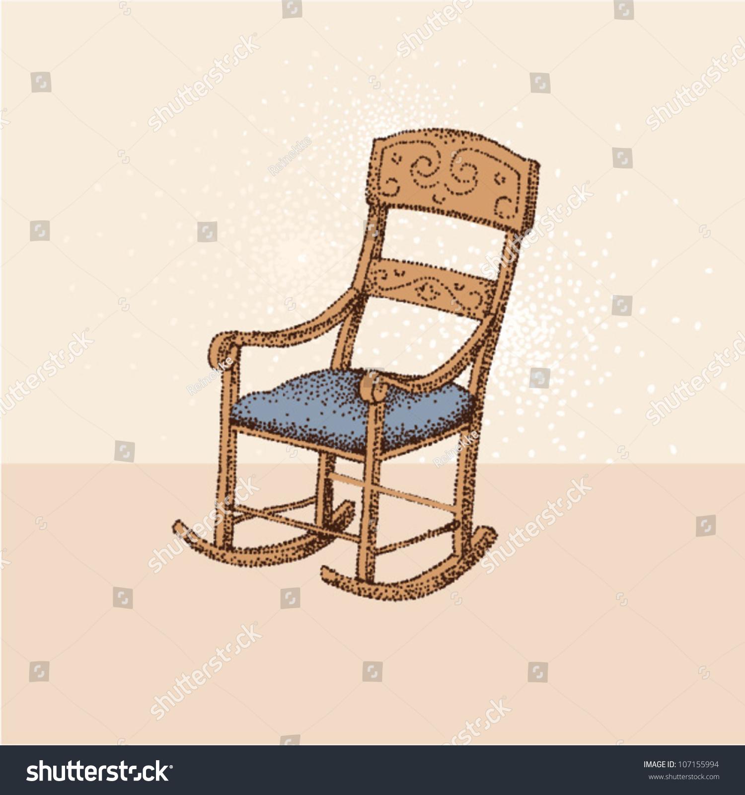 Vintage Rocking Chair ...