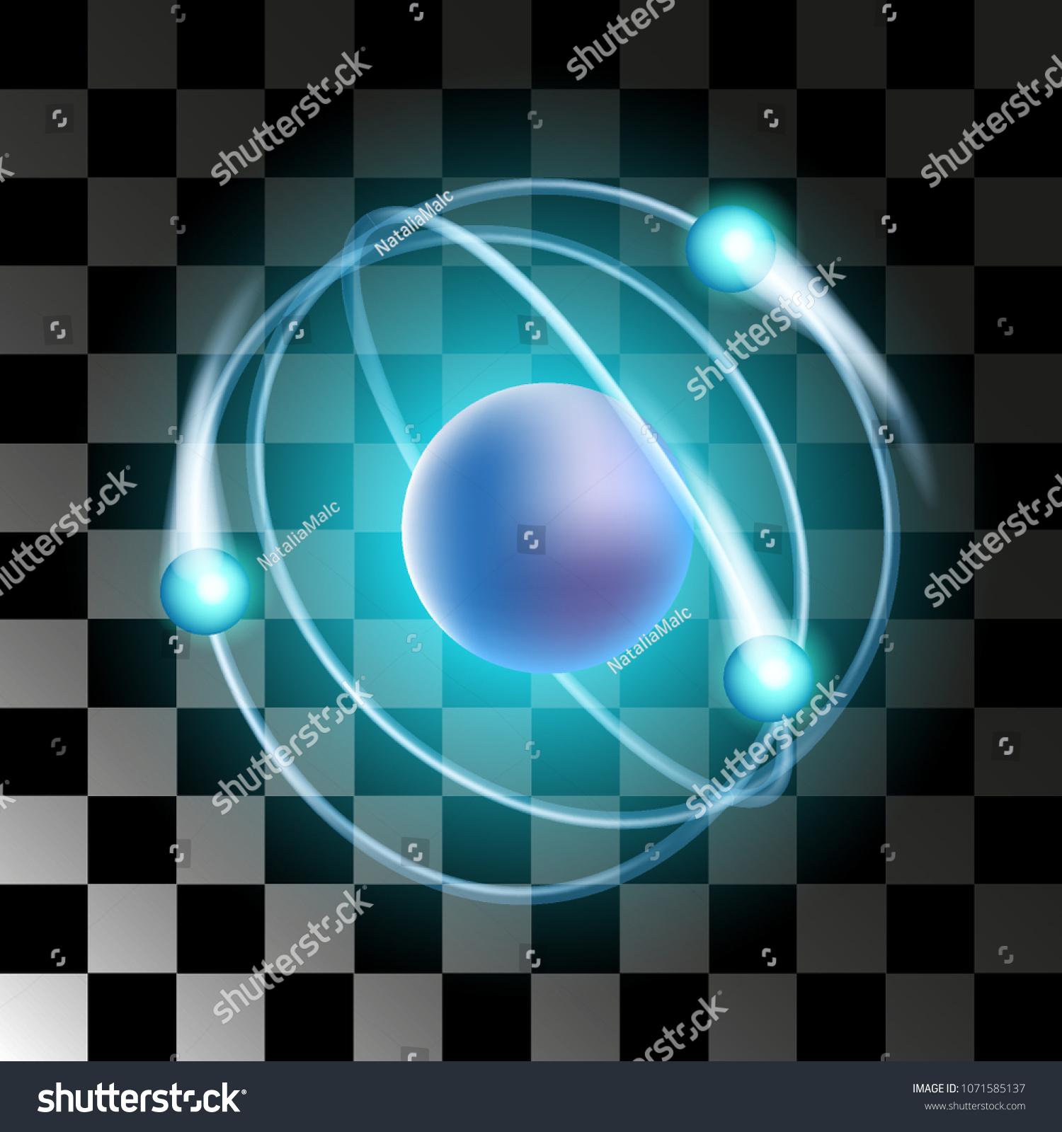 Vector Atom Increased Electrons Around Nucleus Stock Vector Royalty
