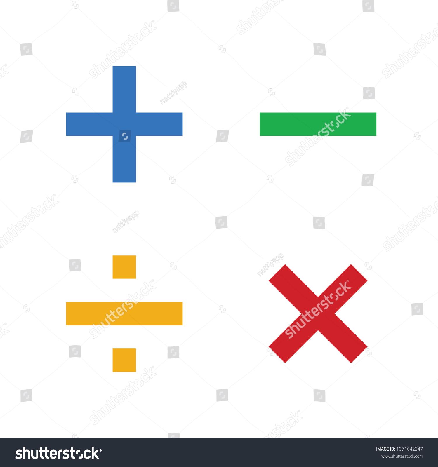 Math Symbols Math Icons Stock Vector Royalty Free 1071642347