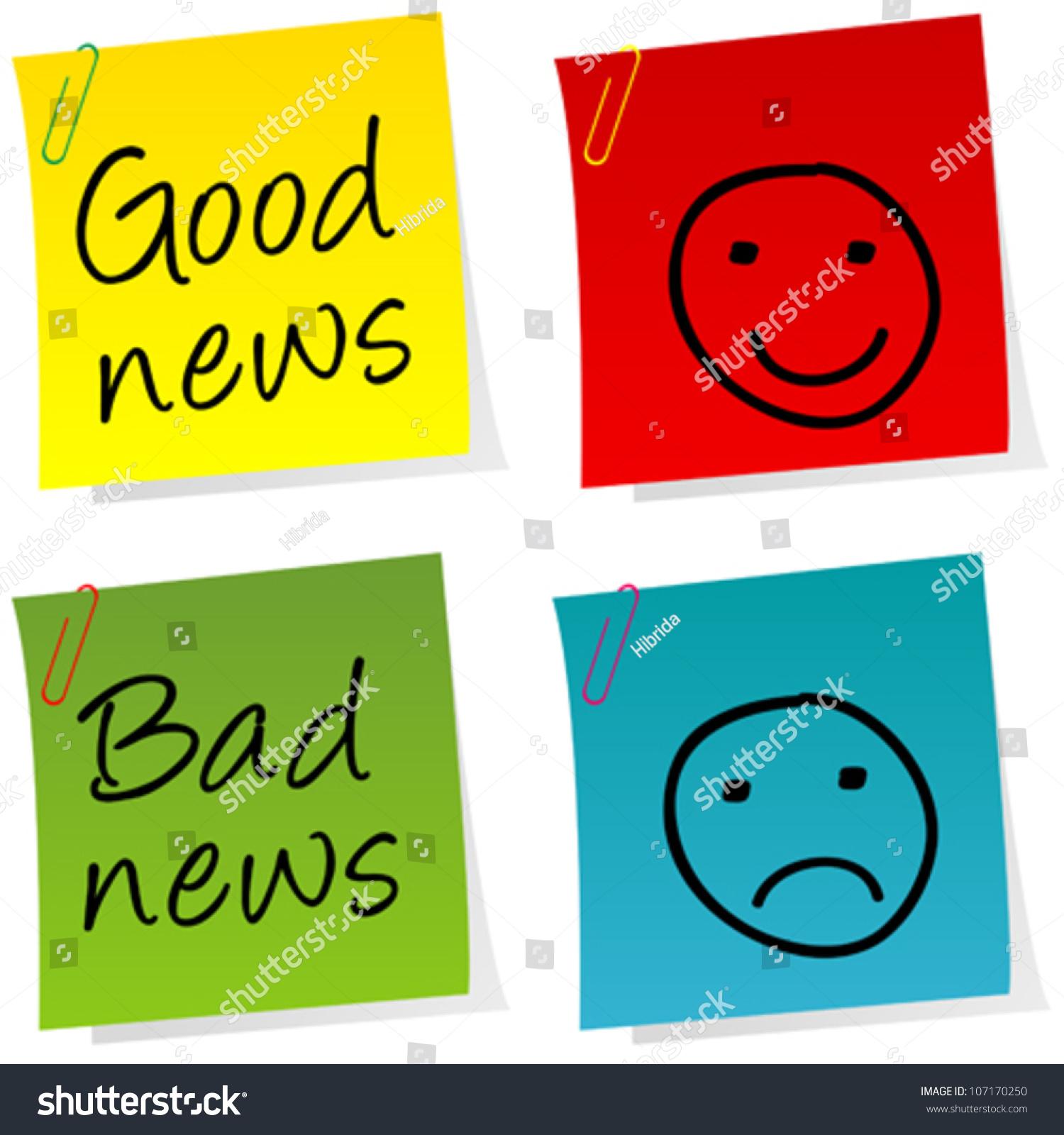 Good News Bad News Post Stock Vector 107170250