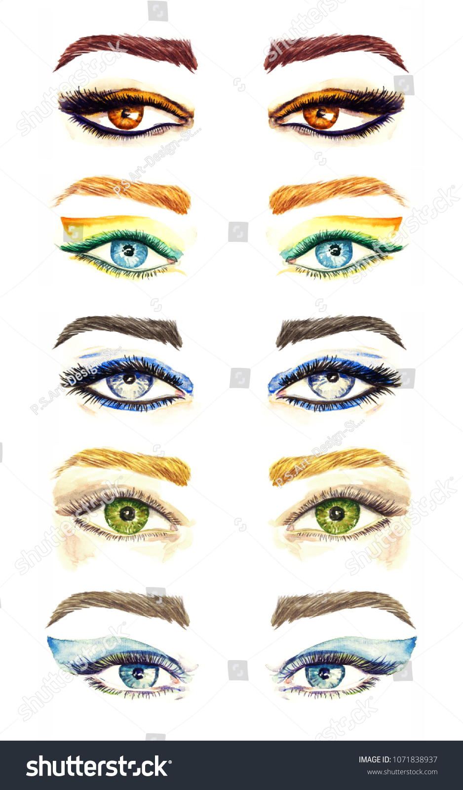 Royalty Free Stock Illustration Of Variety Eyes Shapes Different