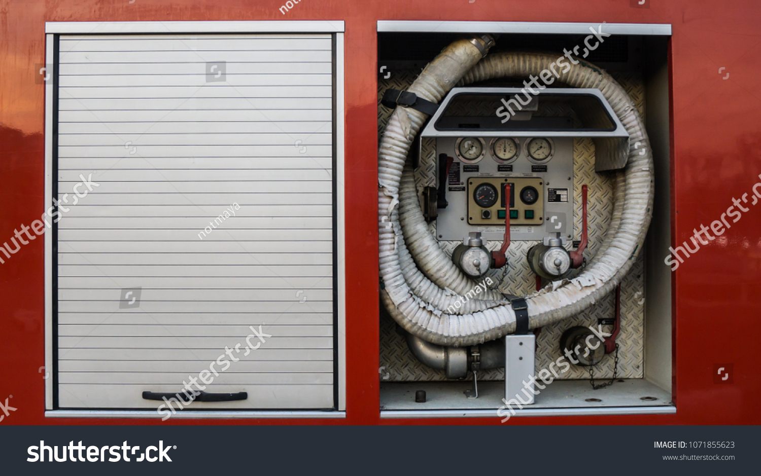 Fire Truck Control Panel Stock Photo Edit Now 1071855623 Engine Diagram