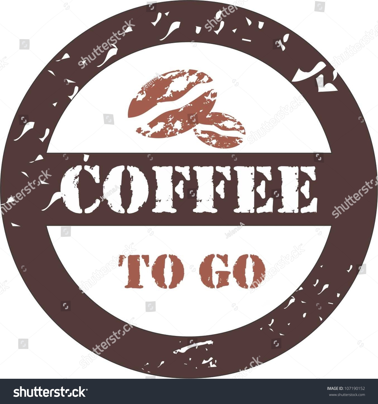 Coffee to go stock vector illustration 107190152 for Coffee to go