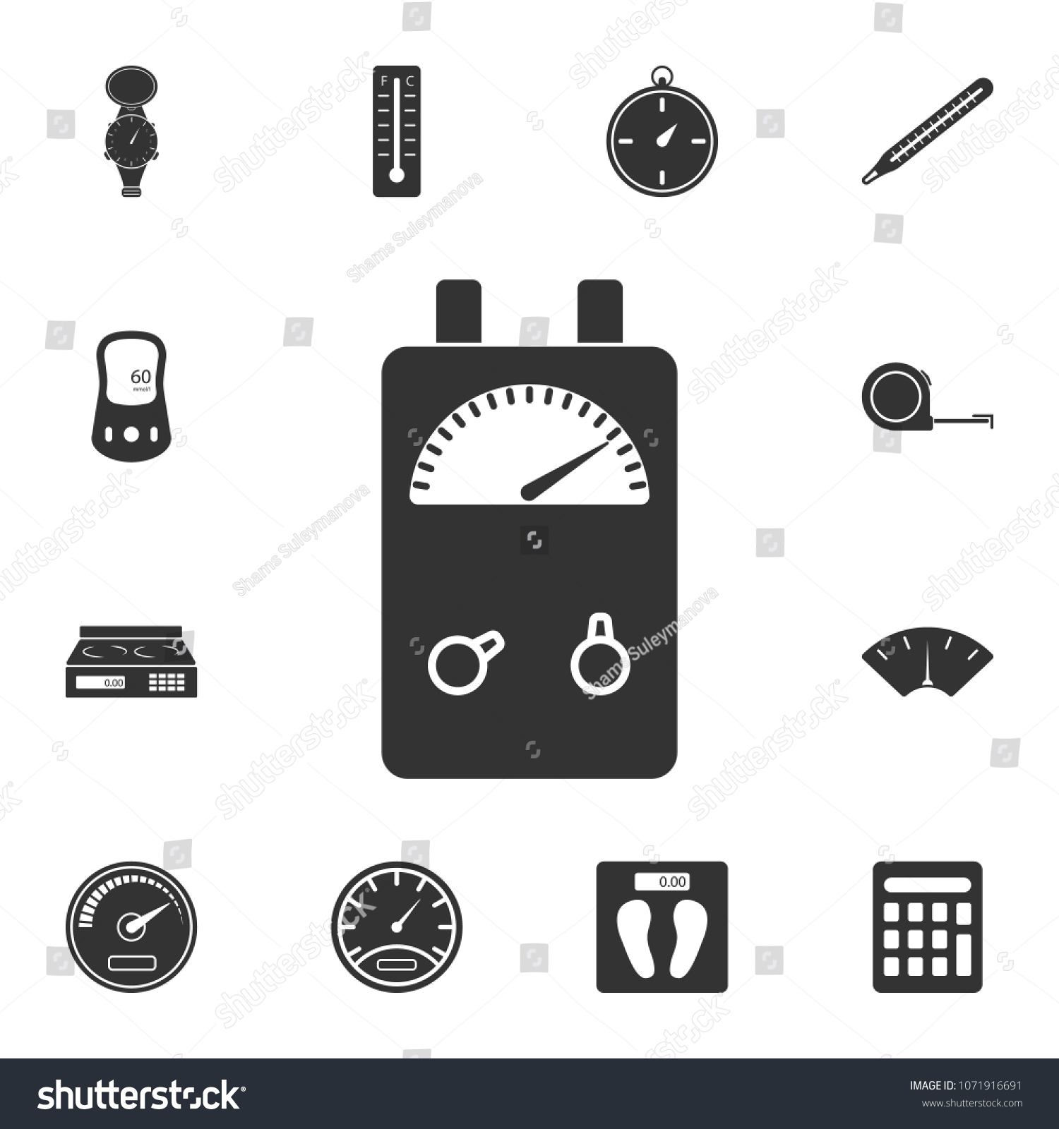 Voltage Ampere Meter Tester Icon Simple Stock Illustration ...