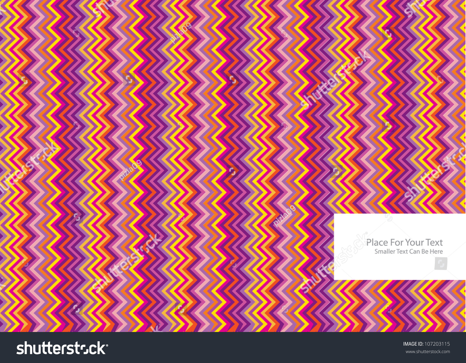 Color Abstract Vector Background Text Frame Stock Vector: Abstract Vector Background With Colorful Symmetrical Zig