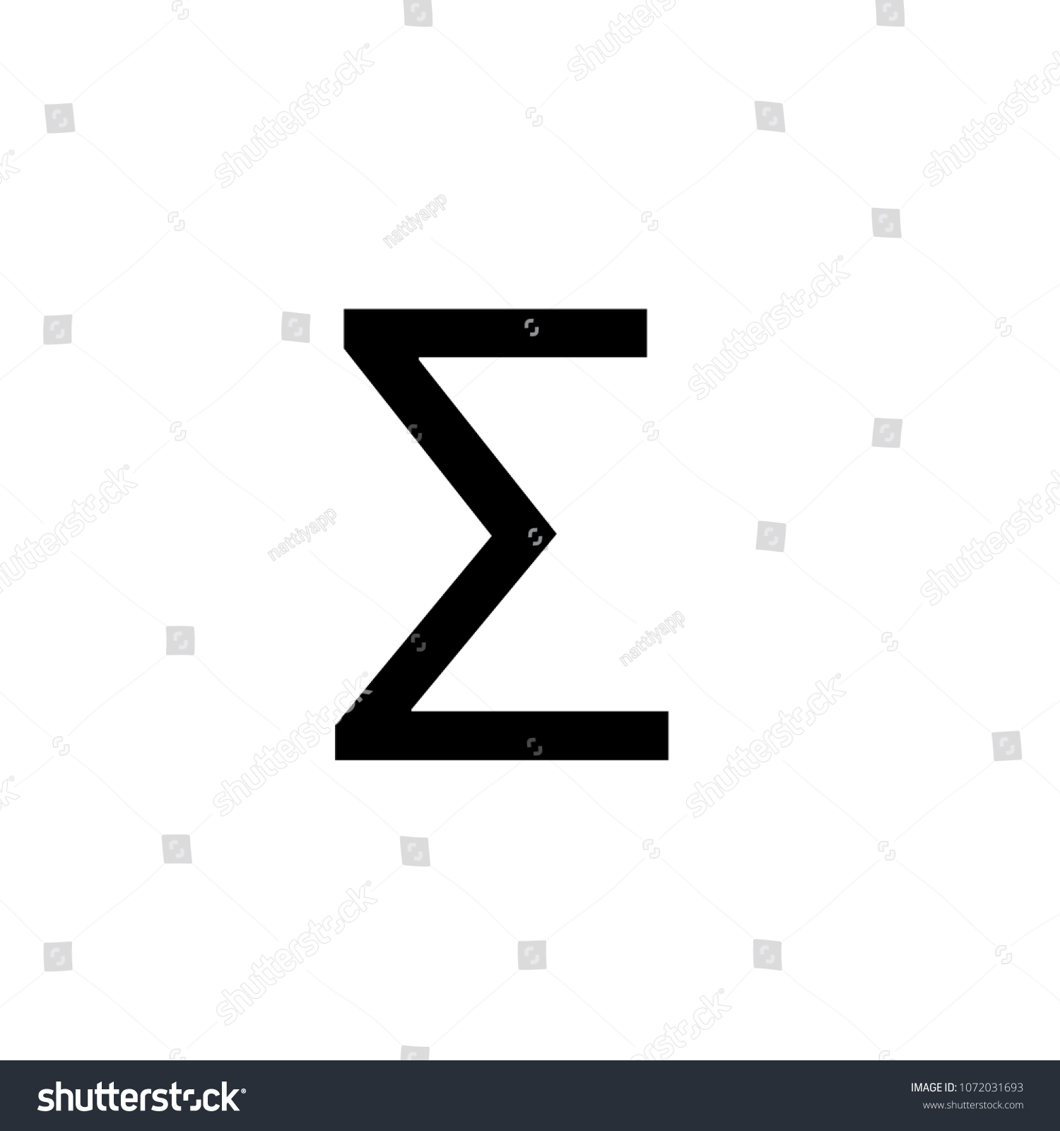 Math Symbols Math Icons Sigma Symbol Stock Vector Royalty Free