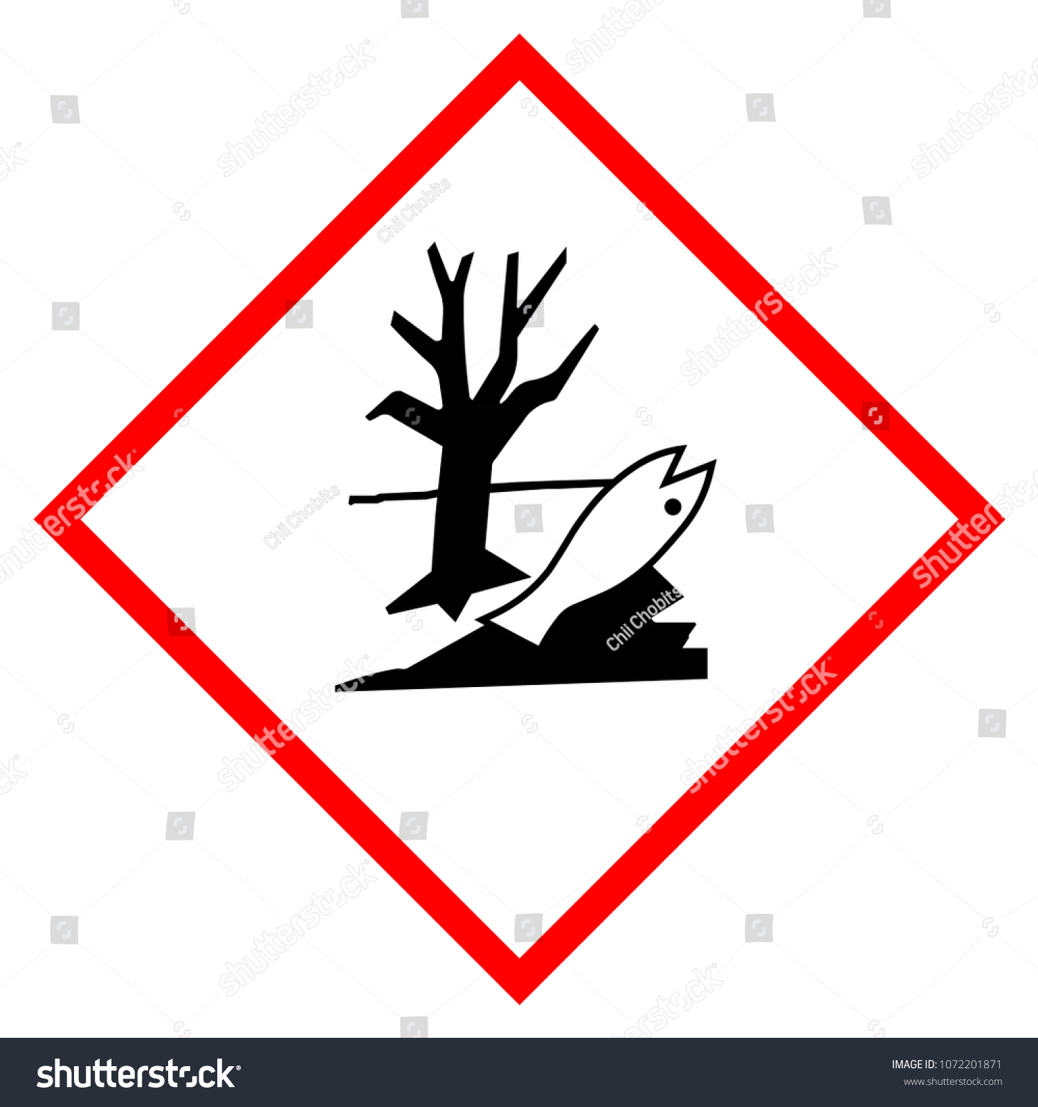 Warning Sign Environmental Hazard Isolated On Stock Illustration