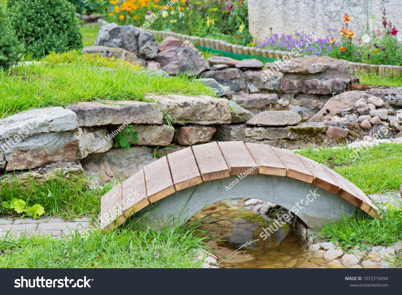 Modern Garden Design Rock Garden Pond Stock Photo Edit Now