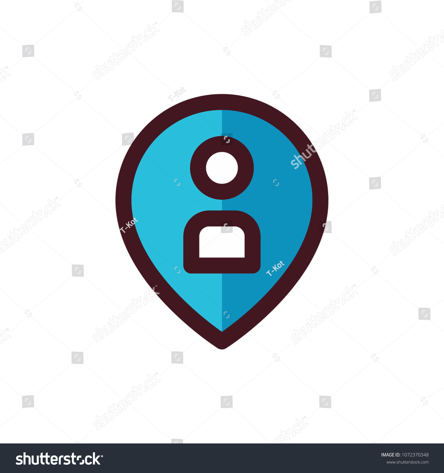 User Pin Icon Vector Stock Vektorgrafik Lizenzfrei 1072370348