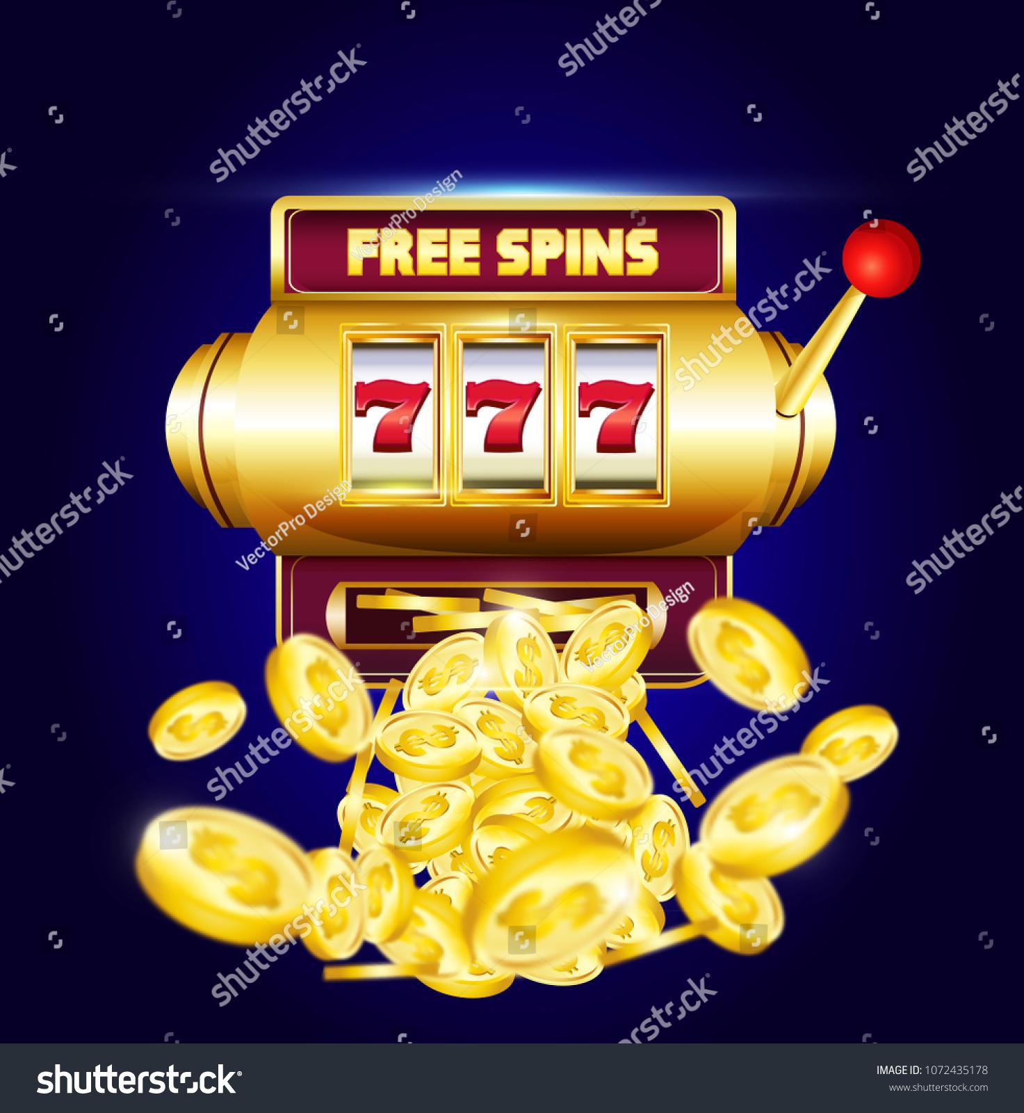 777 Slots 3d Machine Big Win Stock Vector Royalty Free 1072435178