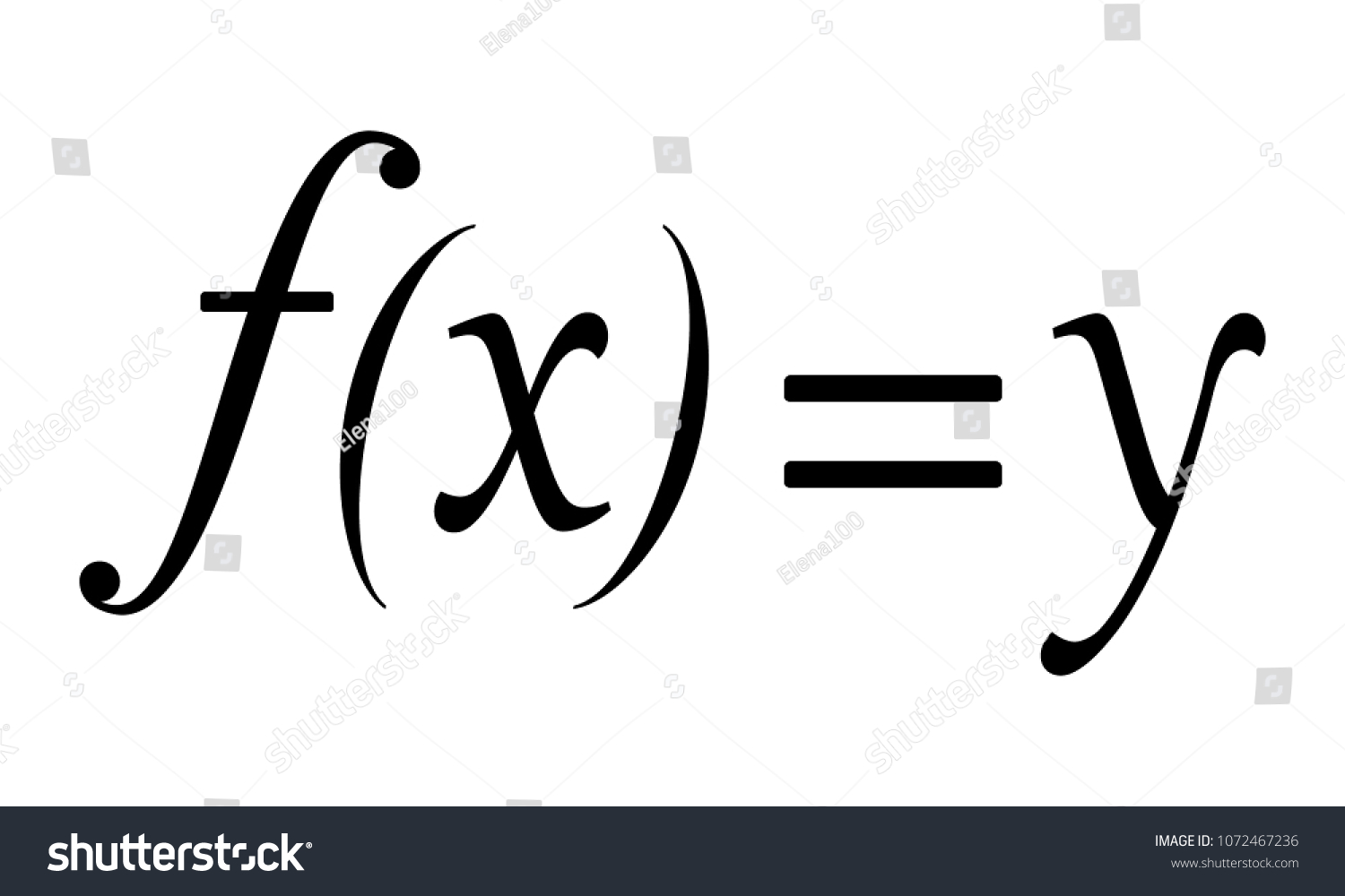 Math Symbol Function X Y Vector Stock Vector Royalty Free