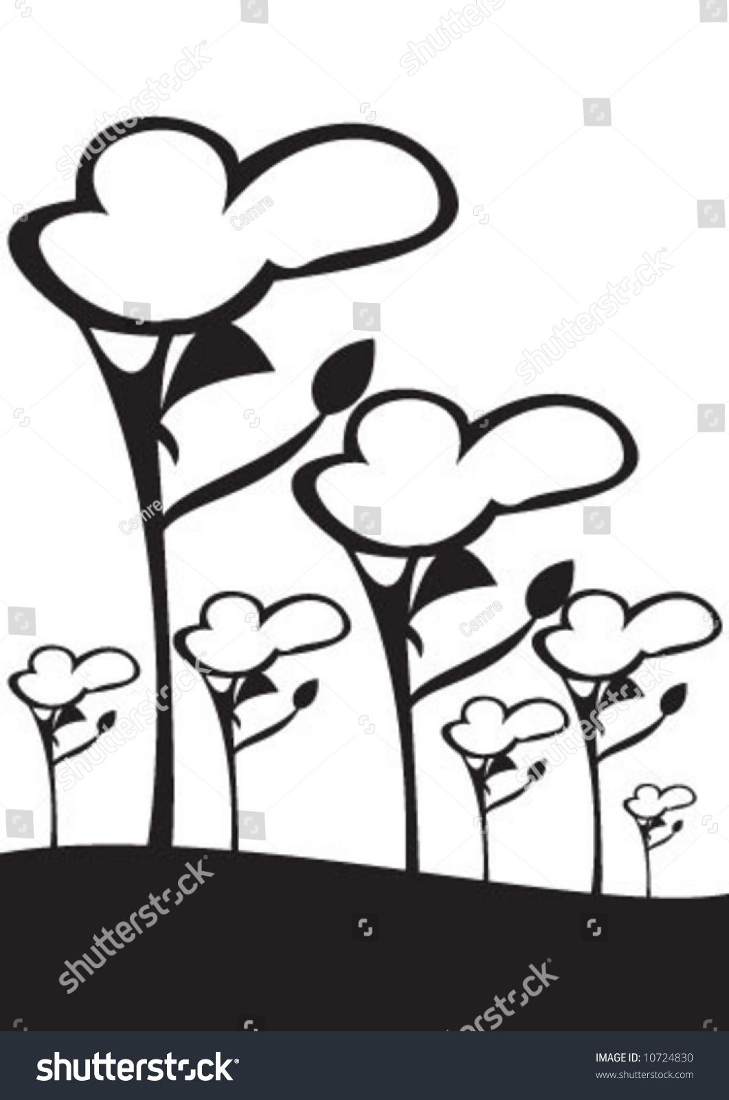 Horizon Tree Clip Art
