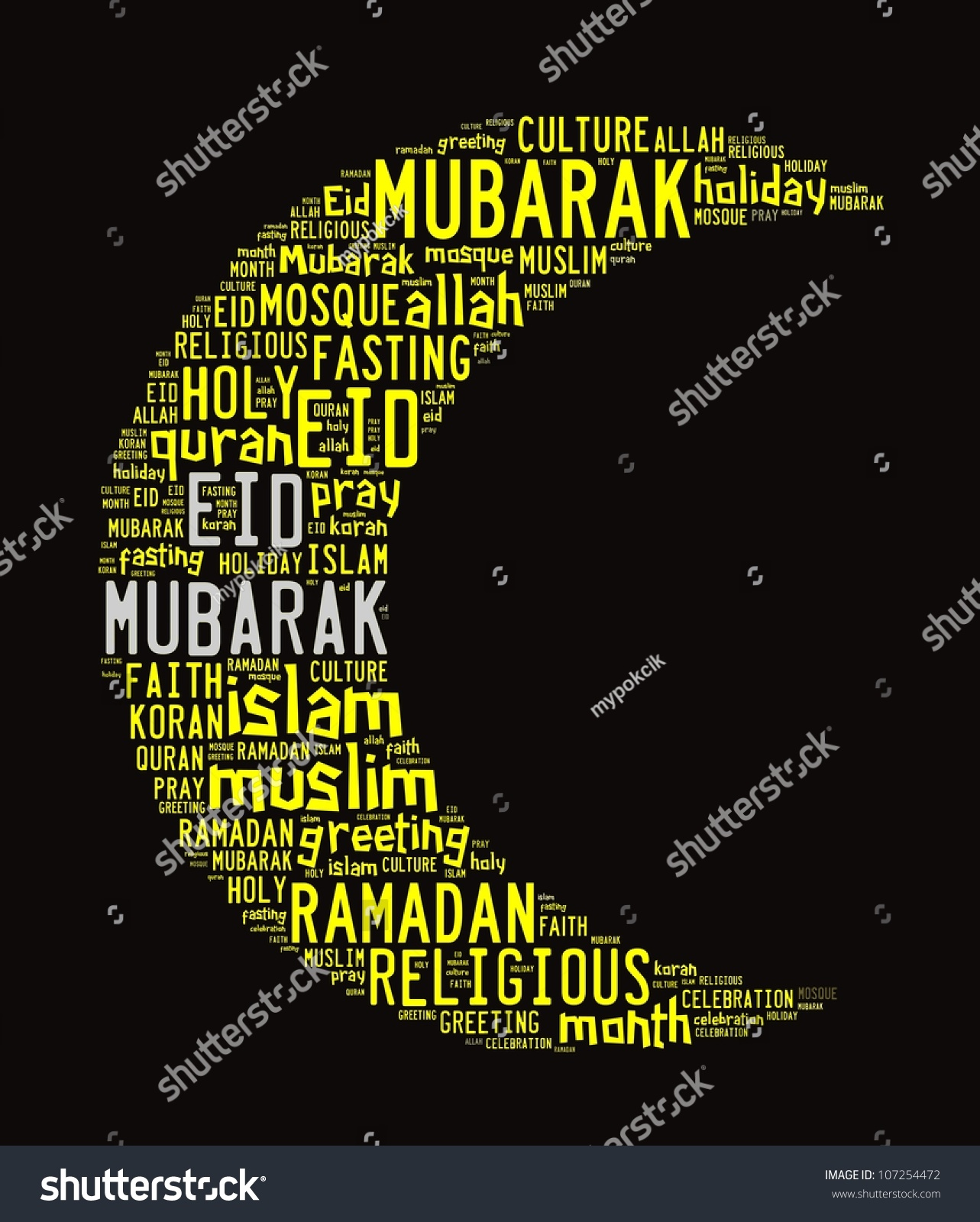 Eid mubarak greetings word collage stock illustration 107254472 eid mubarak greetings in word collage kristyandbryce Image collections
