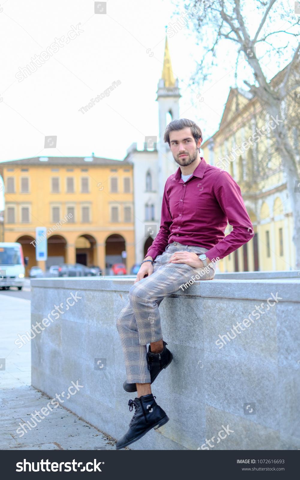 Handsome Boy Reggio Emilia Citycenter Stock Photo Edit Now