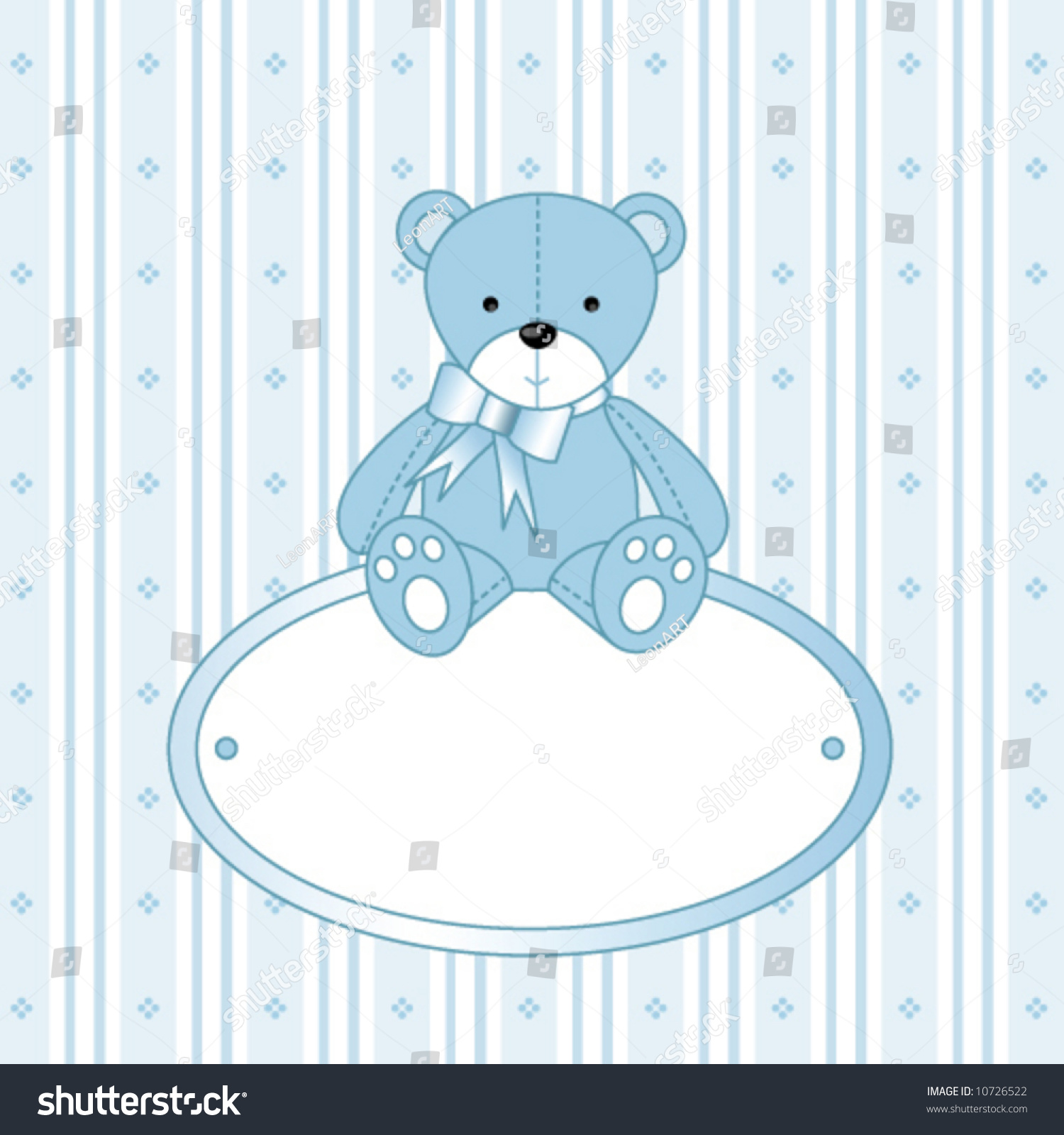 Baby Shower Postcard Template