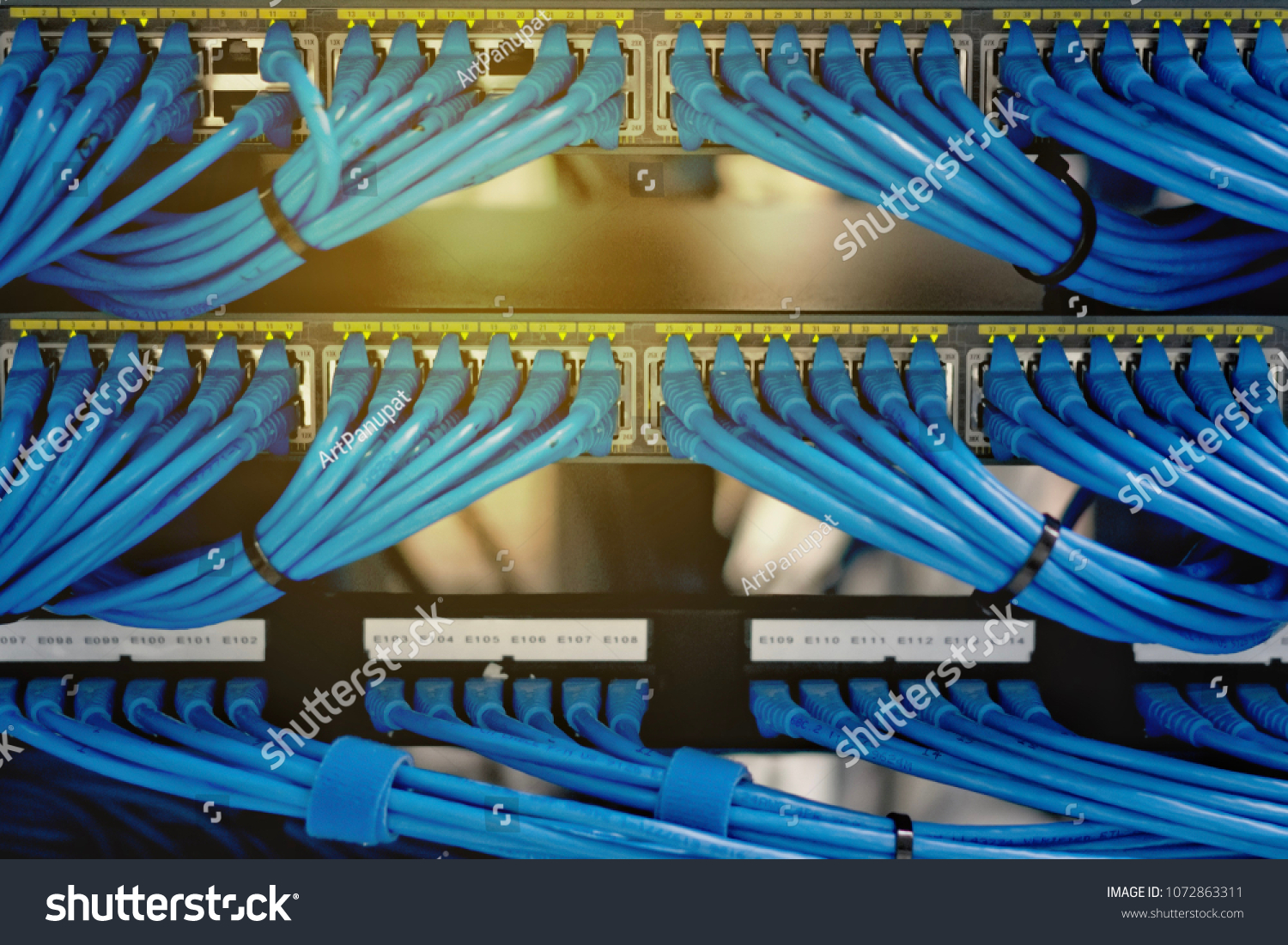 Lan Cable Wiring Networking Network Server Stock Photo Edit Now Schematic And In The Or Rack Data Center